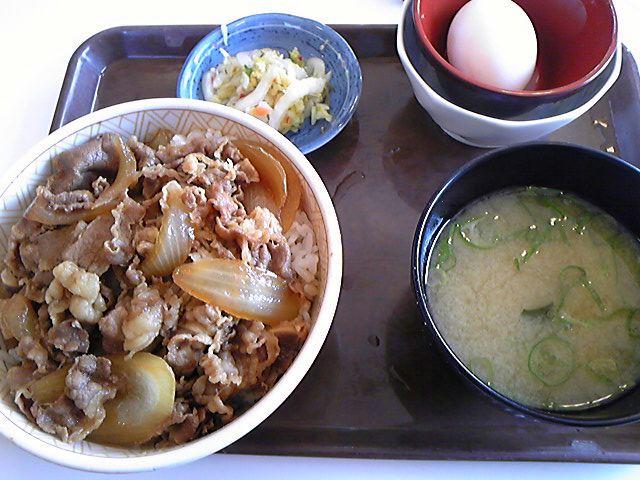すき家牛丼玉子セット399<br />  円