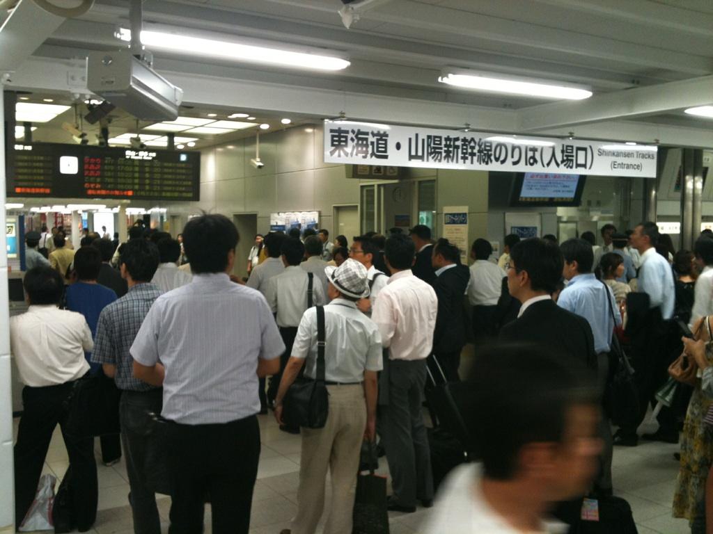 新大阪駅、只今大混雑中