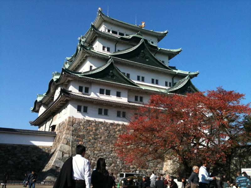 秋の名古屋城に参上