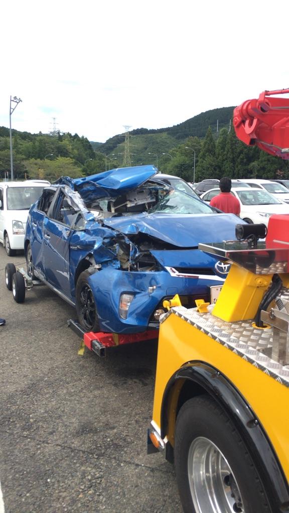 事故車発見